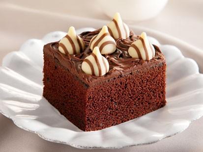 PHOTO: Hersheys Hugs and Kisses candies chocolate cake is shown here.