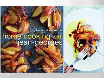 PHOTO: French toast and roasted apples from Home Cooking with Jean-Georges, are shown.