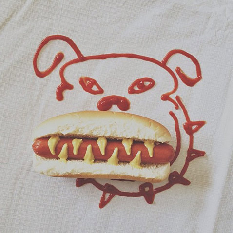 ht hot dog brock davis ll 130115 wblog Instagram Art: Brock Davis Whimsical iPhone Photos