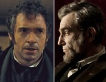 "PHOTO: Oscar Nominees Hugh Jackman in ""Les Miserables,"" left, and Daniel Day Lewis, right, in ""Lincoln."""