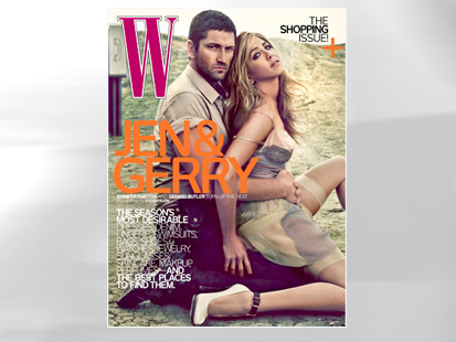 PHOTO Jennifer Aniston and Gerard Butler are shown on the cover of W ...