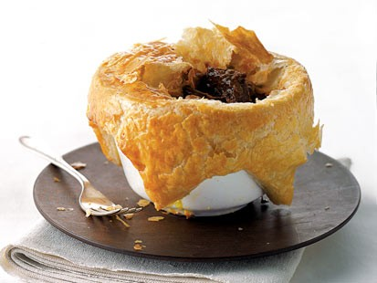 PHOTO: Gourmet Comforts beef and Guinness pie is shown here.