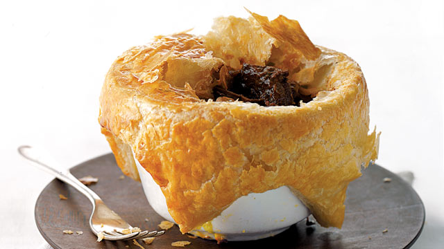PHOTO: Gourmet Comfort's beef and Guinness pie is shown here.