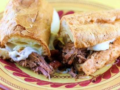 PHOTO: Stephanie ODeas Italian beef sandwich is shown here.