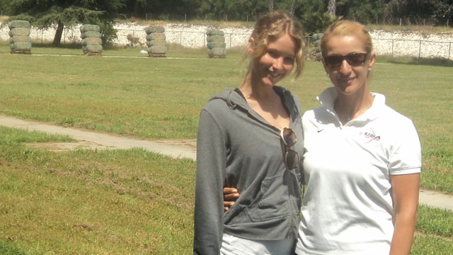 PHOTO: Jennifer Lawrence, left, is seen with Khatuna Lorig, an Olympic archer who trained Lawrence for her role in the Hunger Games, in this undated file photo.