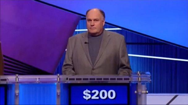 """PHOTO: Reid Rogers, seen here appearing on Jeopardy! in March, 2012, lost the game after mispronouncing """"Wimbledon""""."""