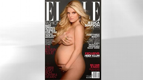 ht jessica Simpson elle magazine thg 120307 wblog Pregnant Jessica Simpson Poses Naked for Elle, Offers Clue to Babys Name