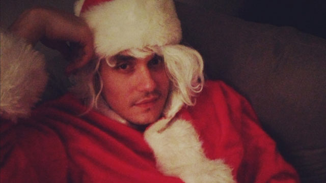 "PHOTO: Katy Perry tweeted this image of John Mayer with caption, ""Santa Baby,"" Dec. 26, 2012."