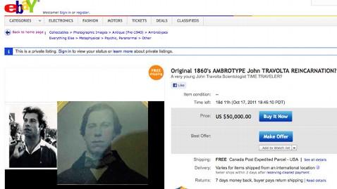 ht john travolta dm 110929 wblog John Travolta Reincarnated? eBay Seller Posts Eerie Photo