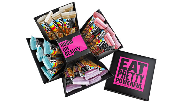 PHOTO: Bobbi Brown's curated KIND bar cube is shown here.