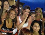 PHOTO: Kristen Stewart poses outside a Hooters in Amarillo, Texas.