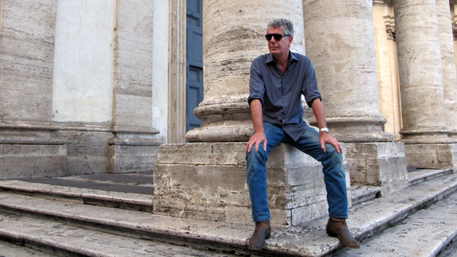 "PHOTO: Anthony Bourdain stars in his new show, ""The Layover"" on the Travel Channel."