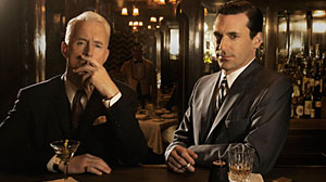 Photo: Televisions Treatment of Alcohol: Not a Pretty Picture: Man Mens Don Draper and Roger Sterling, Rescue Mes Tommy Gavin May Hit Bottom
