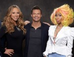 PHOTO: Mariah Carey, Ryan Seacrest and Nicki Minaj in American Idol Season 12.