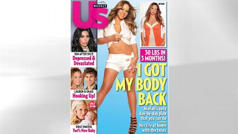 ht mariah carey us weekly magazine thg 111108 wblog Mariah Careys Massive Post Pregnancy Weight Loss