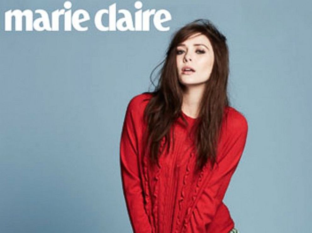 PHOTO: Elizabeth Olsen poses in the June 2014 edition of Marie Claire.