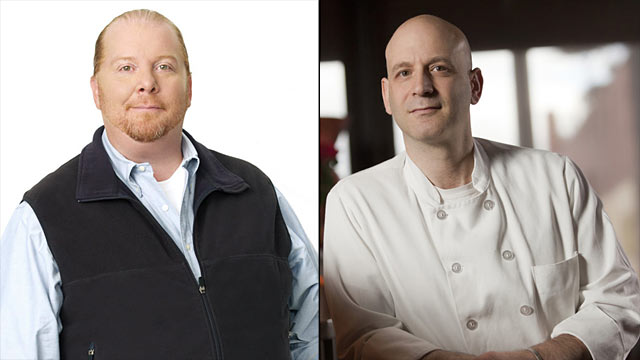 PHOTO: Seen here is Chef Mario Batali, left and Chef Marc Vetri.
