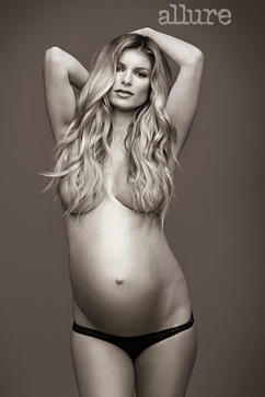 ht marisa miller allure ll 121204 vblog The 34 year old model, who is expecting a boy this month, posed nude for an ...