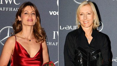 PHOTO: Martina Navratilova and Julia Lemigova