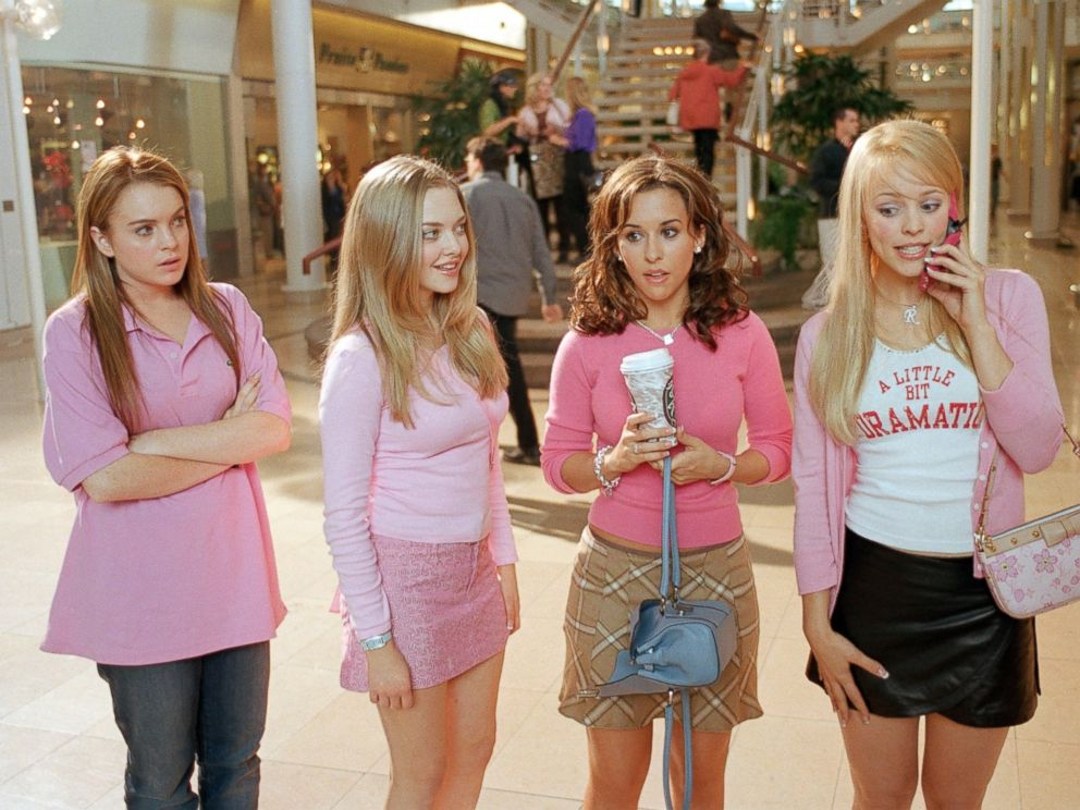 Lacey Chabert, Rachel McAdams, Lindsay Lohan and Amanda Seyfried appear in the 2004 film, Mean Girls.