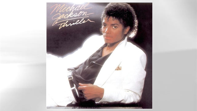 """PHOTO:The cover of Michael Jackson's """"Thriller"""" is shown."""