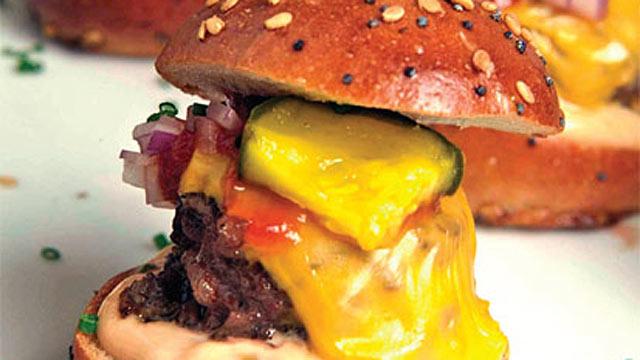 PHOTO: Wolfgang Puck's mini burgers.