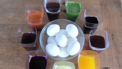 PHOTO: The natural ingredients used to dye Easter eggs are shown here.