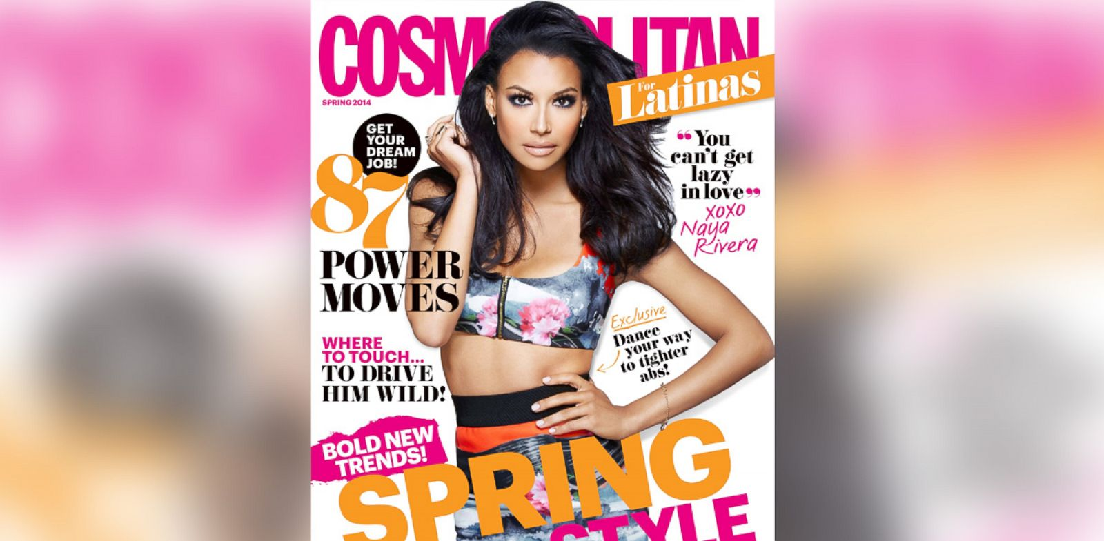 PHOTO: Naya Rivera appears on the spring 2014 cover of Cosmopolitan for Latinas.
