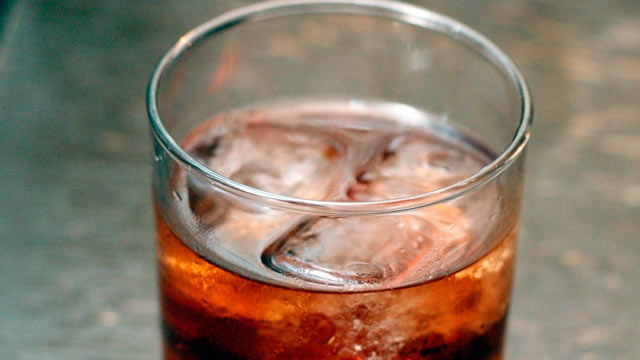 PHOTO: The smoky Negroni Leoni cocktail is shown here.