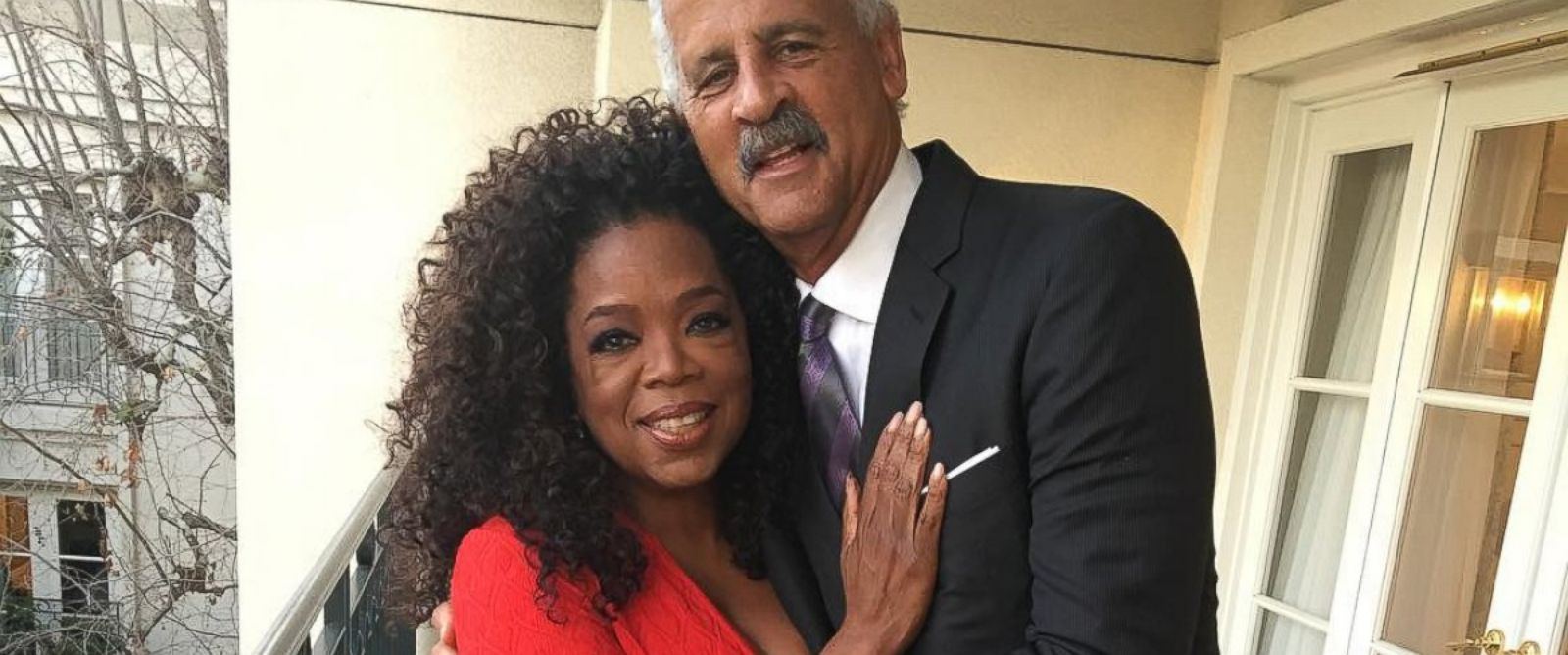 """PHOTO: Oprah posted this photo to Instagram with the caption """"Stepping out with my Valentine of almost 30 yrs! #iovinewedding"""" on Feb. 12, 2016."""