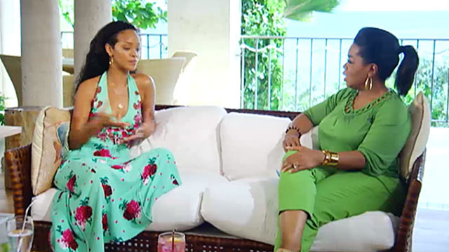 PHOTO: Oprah travels to Barbados for a no-holds-barred conversation with Rihanna about her family and the price of fame.