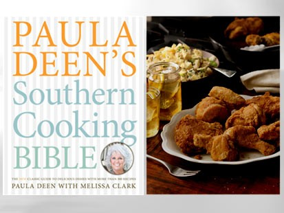 PHOTO:??The cover of Paula Deens Southern Cooking Bible by Paula Deen with Melissa Clark is shown.