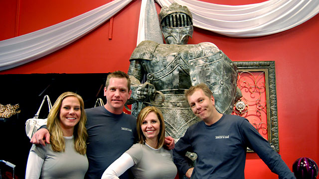 "PHOTO: Naperville Jewelry and Loan, the subject ""Pawn Queens"" on TLC, sells iPhones, Tiffany rings and a 10-foot suit of armor."