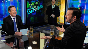 Photo: Ricky Gervais tells Piers Morgan what really happened behind the scenes at the Golden Globes