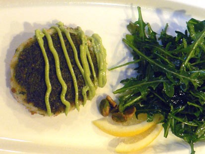 PHOTO: Diane Henderiks pistachio crab cake is shown here.