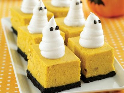 PHOTO:  MyRecipes pumpkin cheesecake bars are shown here.