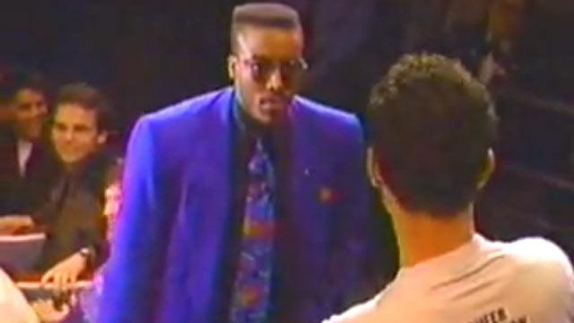PHOTO: Arsenio goes off on members of Queer Nation