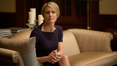 "PHOTO: Robin Wright in a scene from Netflix's ""House of Cards."""