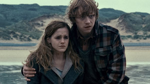 "PHOTO Emma Watson as Hermione Granger and Rupert Grint as Ron Weasley are shown in a scene from ""Harry Potter and the Deathly Hallows--Part I."""