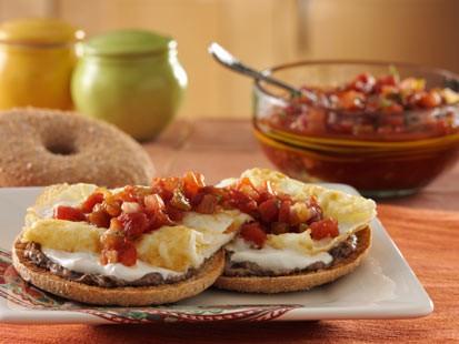PHOTO: Thomas English Muffins Santa Fe bagel thins bagel is shown here.