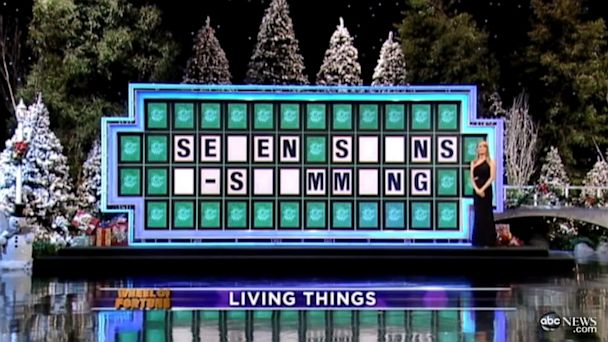 """PHOTO: A contestant on the game show """"Wheel of Fortune"""" lost a round after misprouncing """"swimming"""", sparking outrage."""