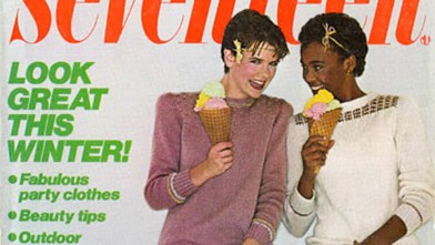 PHOTO: Whitney Houston is seen on the cover of this November, 1981 issue of Seventeen magazine.