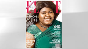PHOTO Gabourey Sidibe graces one of the covers of Elles 25th anniversary issue.