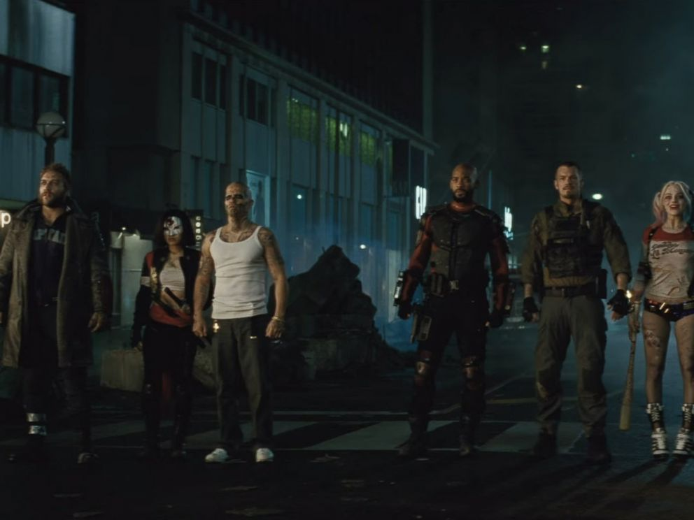 PHOTO: The cast is pictured in an image made from the official Suicide Squad trailer posted to YouTube on Jan. 19, 2016.