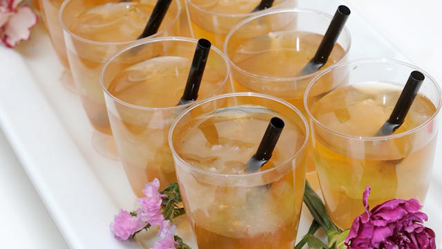 PHOTO: Andrea Correale's halftime honey cocktail is shown here.
