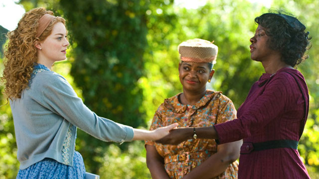 """PHOTO:Emma Stone, left and Viola Davis, right, along with Octavia Spencer are seen in a seen from their new movie """"The Help"""" in theaters on Aug. 10, 2011."""