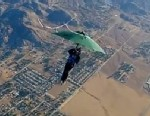 PHOTO: Erik Roner skydove with an umbrella in this GoPro promotional video.