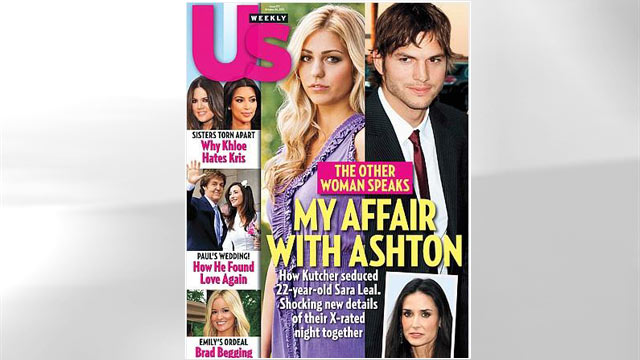 PHOTO:Ashton Kutcher and Sara Leal appear on US Weekly Cover.