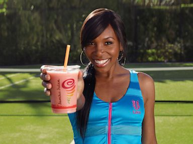 PHOTO: Tennis star, Venus Williams, shares a recipe for her favorite Jamba Juice smoothie.
