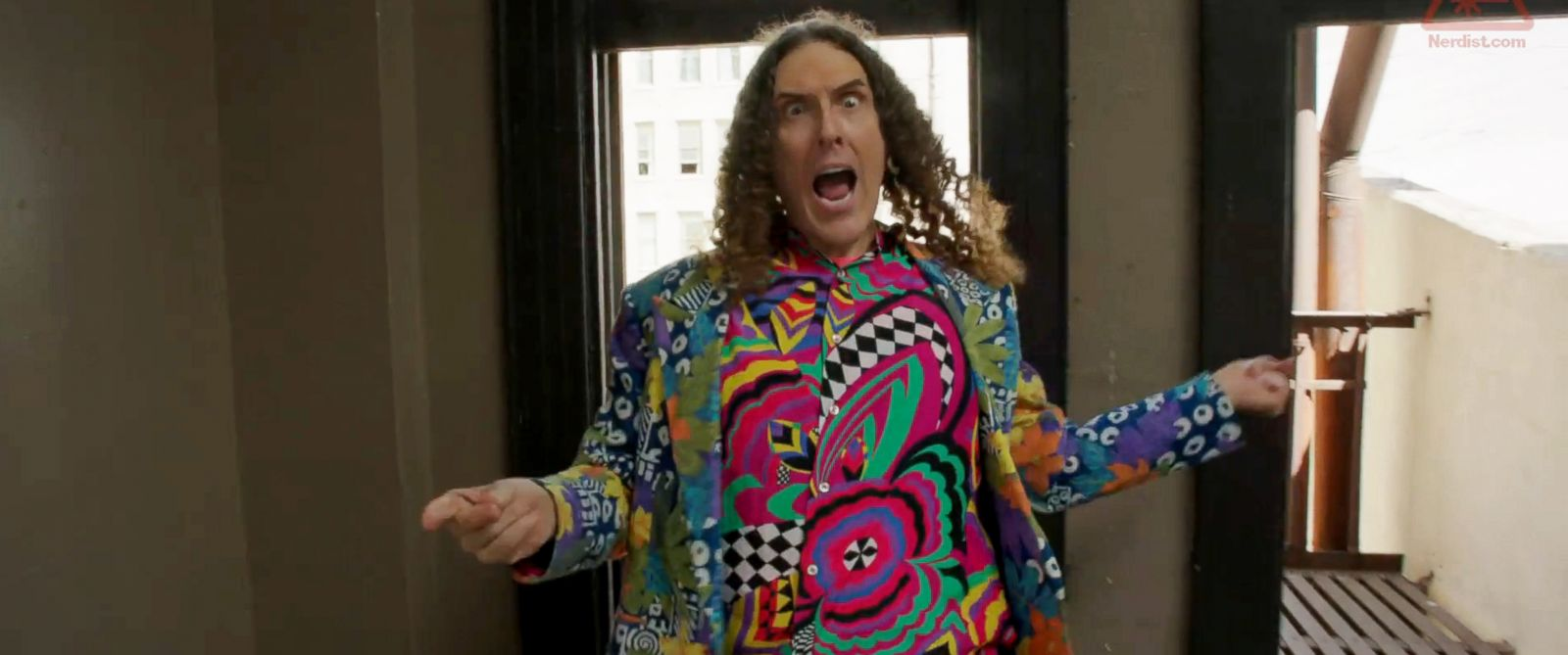 "PHOTO: Weird Al Yankovic is seen in a still made from the ""Tacky"" video released via Nerdist.com on July 14, 2014."